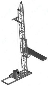 Мачтовый подъемник ПМГ-1-Б грузовой строительный